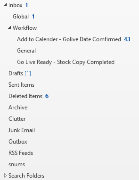 Using Folders to Organise Your Emails