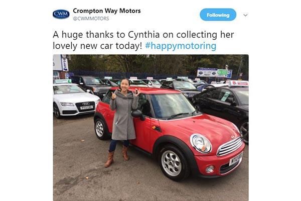 Crompton Way Motors Twitter