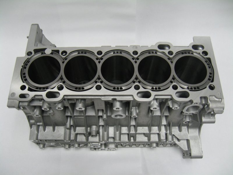 Example of a 5 cylinder engine block