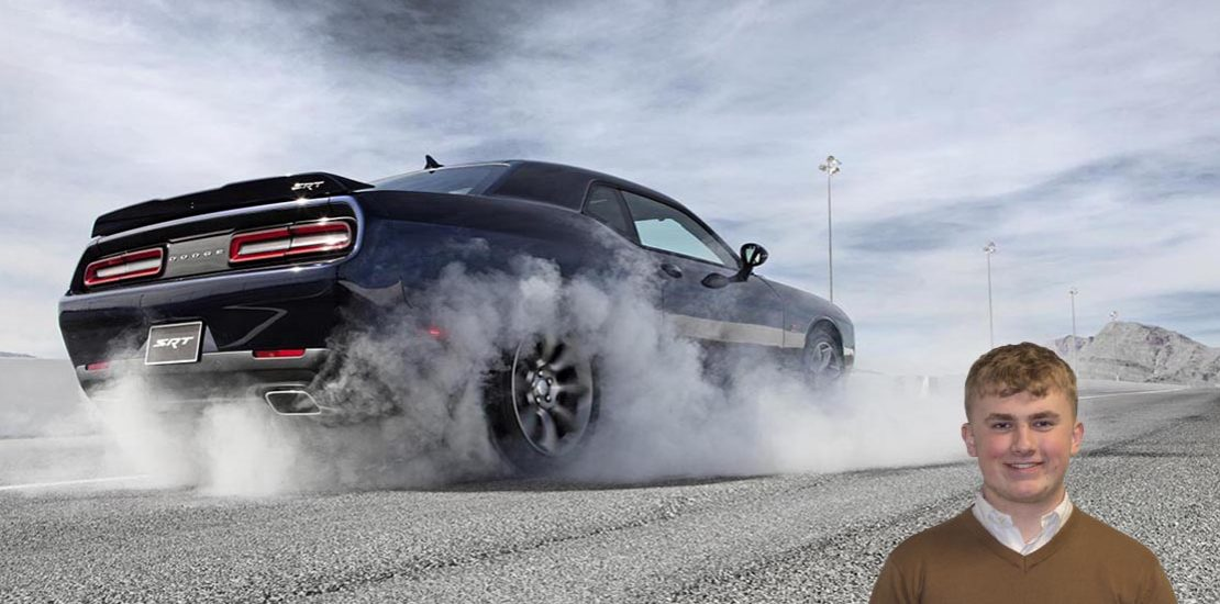 Dodge Challenger SRT wheelspinning Horsepower