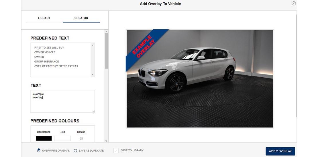Click Dealer Image Overlays