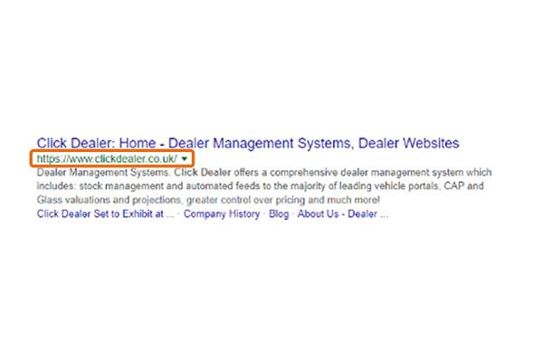 Click Dealer Website Structure