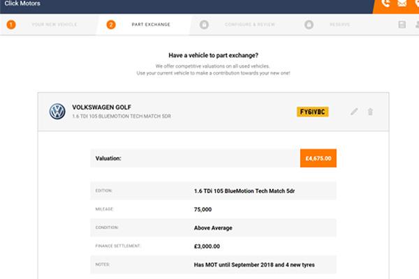 Click Dealer Click Engage Part Exchange