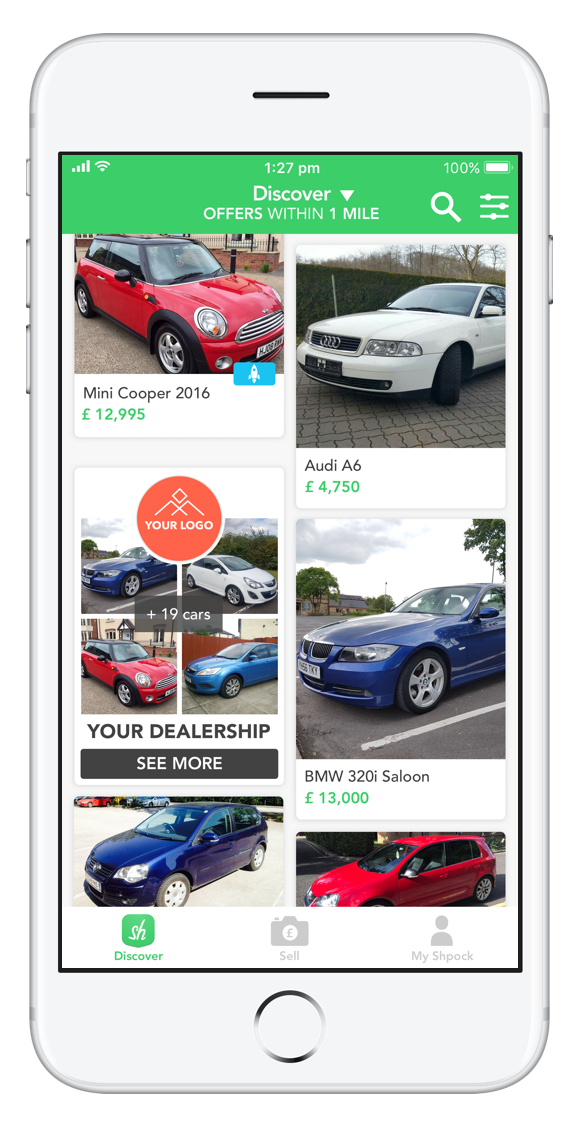 Shpock+ Motors Mobile App