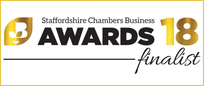 Staffordshire Chambers Business Awards Finalist 2018