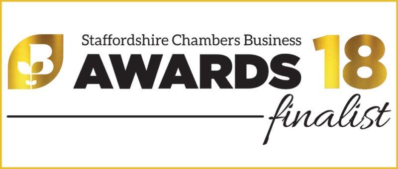 Staffordshire Chambers Business Awards Finalist 2018