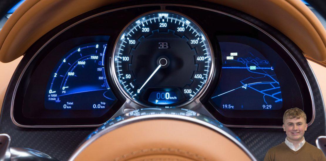 Bugatti Chiron speedo
