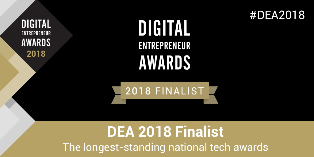 Digital Entrepreneur Awards Finalist 2018