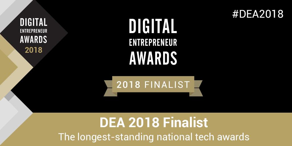 Digital Entrepreneur Awards Finalist 2018