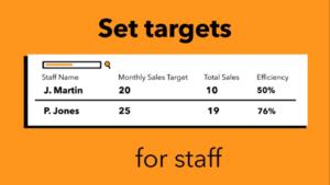 Set Targets For Staff