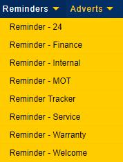 Key Marketing Reminders list